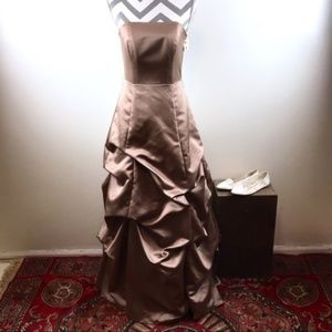 David's Bridal | Latte brown evening gown | Size 4
